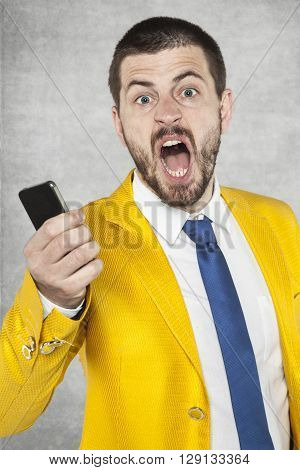 Businessman Screaming With Anger