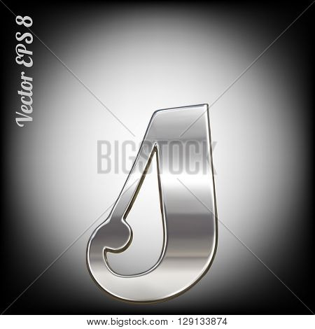 Vector letter s from metal alphabet. Lovercase metal font collection. EPS 8