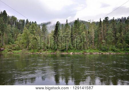 View of the Biya river. Russia Altai Republic