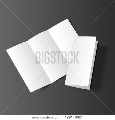 Brochure Blank Mockup Two Black