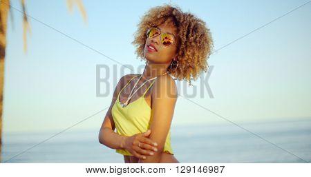 Sexy Girl Posing on the Beach