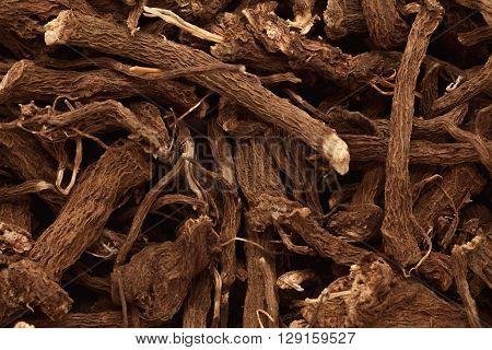 Macro closeup background texture of Organic Calamus (Acorus calamus) root.