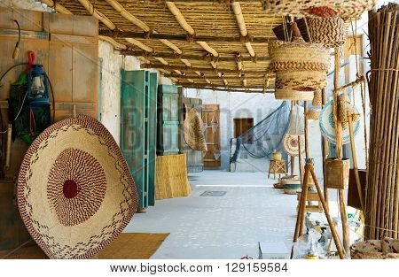 Qatar Doha handicraft in the Souq Wakif in the old city center