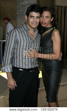 """Antonio Rufino and Pietra Thornton at the Los Angeles premiere of """"Matando Cabos"""" held at the Eygptian Theatre in Hollywood, USA on on August 22, 2005."""
