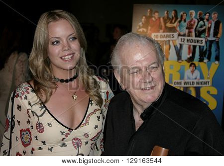 """Erin Torpey and Charles Durning at the World premiere of """"Dirty Deeds"""" held at the DGA Theatre in Hollywood, USA on August 24, 2005."""