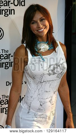 """Kimberly Page at the Los Angeles premiere of """"The 40 Year-Old Virgin"""" held at the ArcLight Theatre in Hollywood, USA on August 11, 2005."""