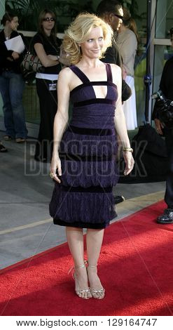 "Leslie Mann at the Los Angeles premiere of ""The 40 Year-Old Virgin"" held at the ArcLight Theatre in Hollywood, USA on August 11, 2005."
