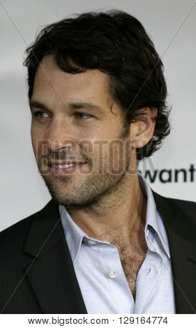 """Paul Rudd at the Los Angeles premiere of """"The 40 Year-Old Virgin"""" held at the ArcLight Theatre in Hollywood, USA on August 11, 2005."""