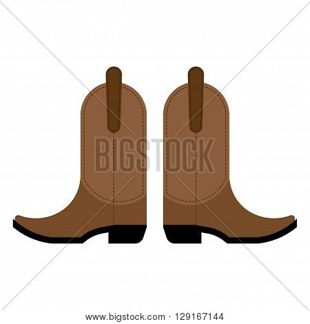 pair of cowboy boots Vector illustration on a white background