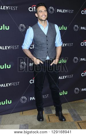 LOS ANGELES - MAR 20:  Cheyenne Jackson at the PaleyFest 2016 - American Horror Story: Hotel at the Dolby Theater on March 20, 2016 in Los Angeles, CA