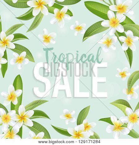 Summer Sale Banner. Sale background. Big sale. Floral Sale Tag. Sale poster. Vector Illustration.