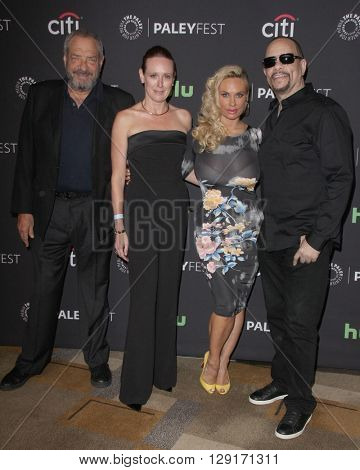 LOS ANGELES - MAR 19:  Dick Wolf, Noelle Lippman, Coco Austin, Ice-T at the PaleyFest 2016 - Dick Wolf Salute at the Dolby Theater on March 19, 2016 in Los Angeles, CA