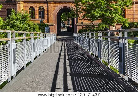 former Gutleut barracks from 19th century are renovated in Frankfurt