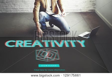 3D Three Dimensional Futuristic Display Modern Concept