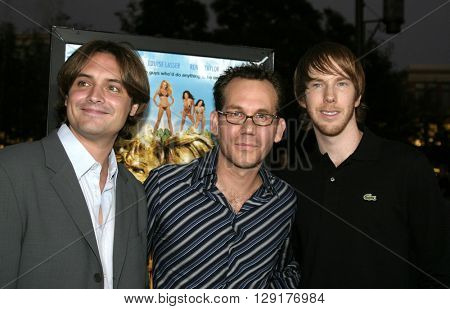"Will Friedle, Gary Preisler and Chris Owen at the Los Angeles premiere of ""National Lampoon's Gold Diggers"" held at the Grove Stadium in Hollywood, USA on September 13, 2004."