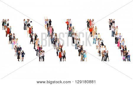 Achievement Idea Standing Together