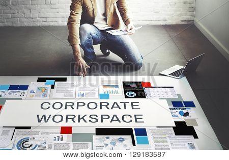 Corporate Workspace Company Enterprise Concept