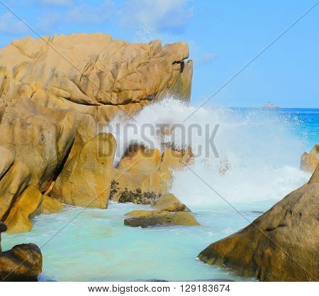 Rocks Waves Seascape