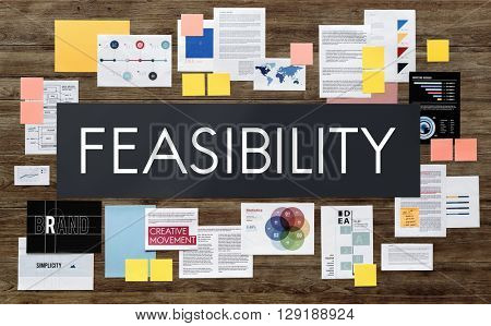 Feasibility Planning Possible Reasonable Plan Concept poster