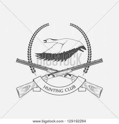 geese hunting icon hunting club - vector illustration