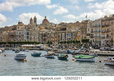 View Over The Grand Harbour From Valletta