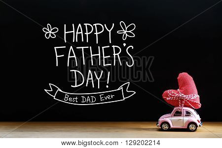Fathers Day Message With Miniature Pink