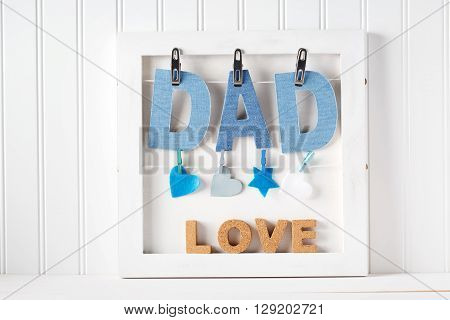 Fathers Day Theme With Hanging  Dad Letters