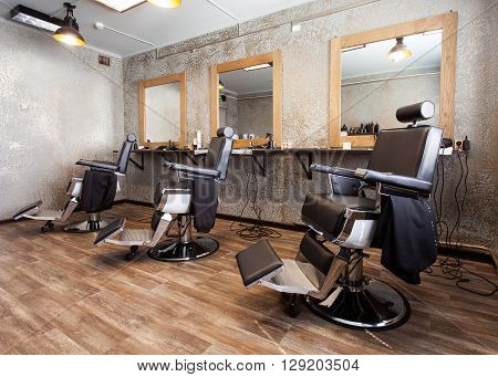 Three Workplaces For Barbers