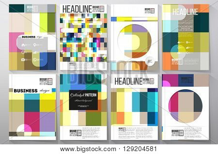 Set of business templates for brochure, flyer or booklet. Abstract colorful business background, modern stylish vector texture.