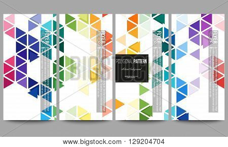 Set of modern vector flyers. Abstract colorful business background, modern stylish hexagonal and triangle vector texture