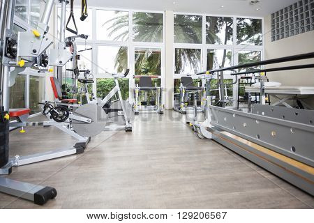Exercise Equipment Of Rehab Center
