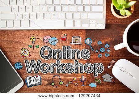 Online Workshop Concept With Workstation
