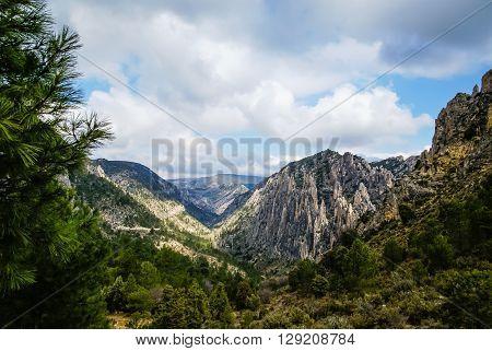Image of mountains at Los organos de Montoro, Teruel, Aragon, Spain
