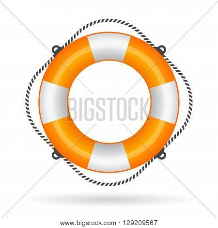 Life ring icon isolated on white background