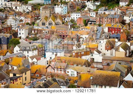 Beautiful Hastings Cityscape In England