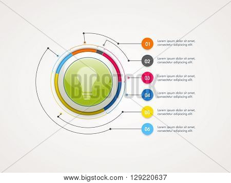 Creative infographic circle for Business reports and presentation.