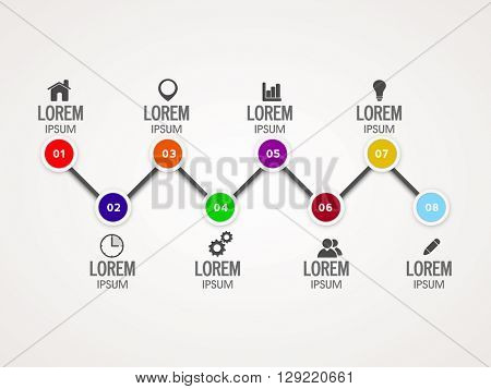Creative infographic elements with web symbols for Business purpose.