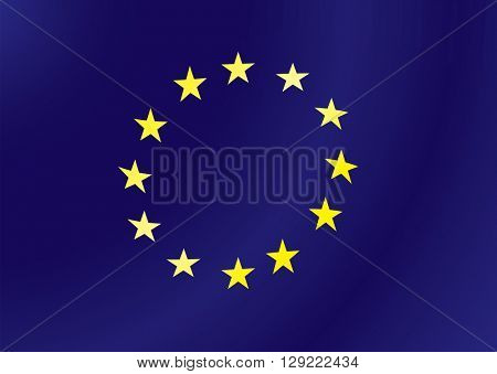 European union flag illustration