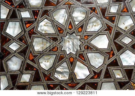 Ottoman decoration with mother of pearl inlay