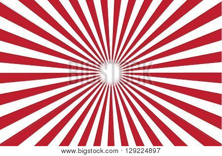 red and white burst background. Vector illustration
