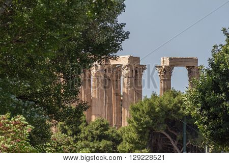 Temple Of Olympian Zeus Columns, Athens, Greece