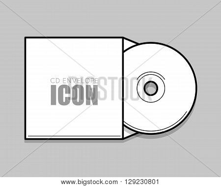 CD cover template DWD. Box for CD. Insulated packaging for discs. DWD, CD envelope isolated on grey