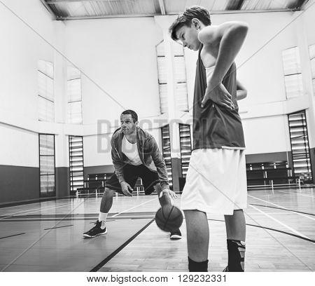 Coach Team Athlete Basketball Bounce Sport Concept