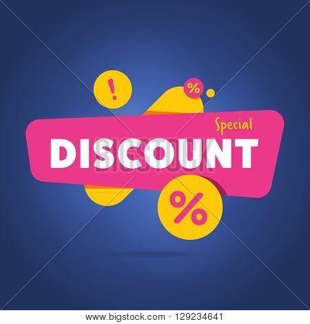 Discount sticker. Offer sticker. Discount label. Special discount vector label. Sale sign. Discount element template. Special offer sticker. Promo sticker. Discount icon. Discount vector banner. Ad offer. Design of ad offer. Discount tag. Dicount offer.