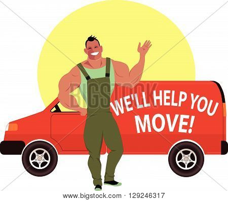 Professional mover and moving van will help you move to a new home