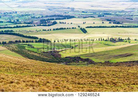 Farmland Landscape In Ecuador