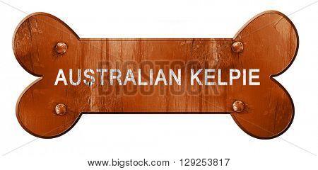 Australian kelpie, 3D rendering, rough brown dog bone
