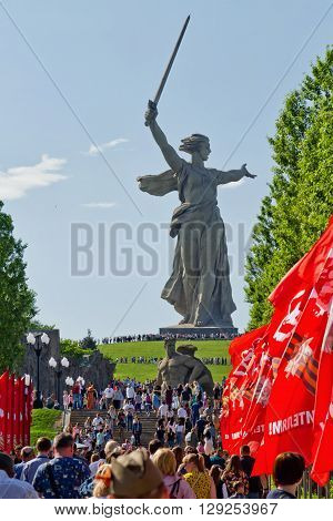 Mass Visits To Local Residents And Visitors Of The Memorial Complex Mamaev Kurgan