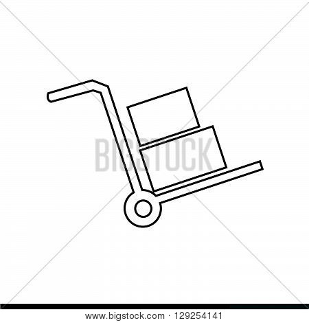 an images of handcart icon Illustration design