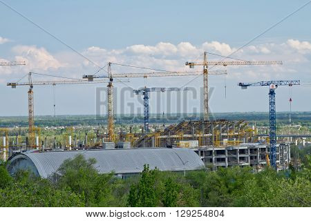 Construction Of A New Football Stadium For The World Cup In 2018 In Volgograd